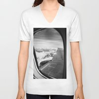 plane V-neck T-shirts featuring Plane by Laheff
