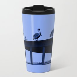 Blue Pelicans Travel Mug