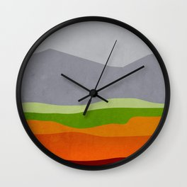 Mountains 10 Wall Clock
