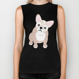 French Bulldog Puppies Biker Tank