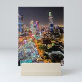 City Under Construction Mini Art Print