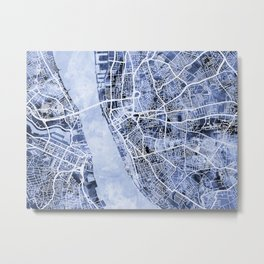 Liverpool England City Street Map Metal Print