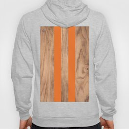 Wood Grain Stripes - Orange #840 Hoody