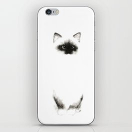 Angora Siamese Cat - Chat Siamois Angora iPhone Skin