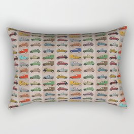2CV pattern (red) Rectangular Pillow