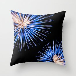 Flowery Firework Explosion Throw Pillow