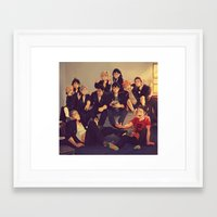 viria Framed Art Prints featuring Karasuno by viria