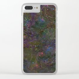 Purple Green Marble Clear iPhone Case