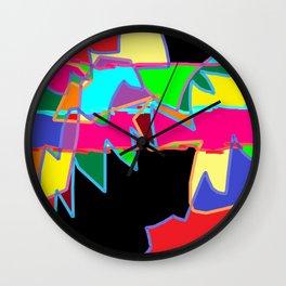 Patchwork art Wall Clock