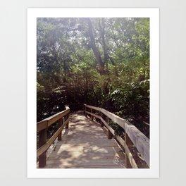 Bridge Walk Art Print