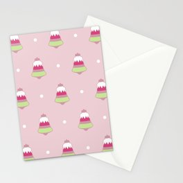 Strawberry Holiday Bells Stationery Cards