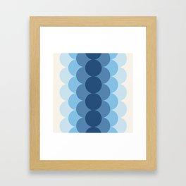 Gradual Glacial Framed Art Print