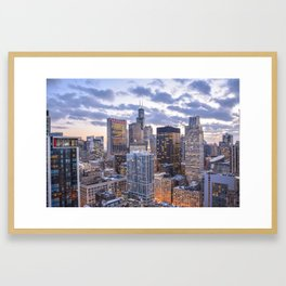 City Glow Framed Art Print