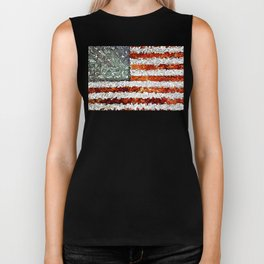 American Flag Abstract Biker Tank