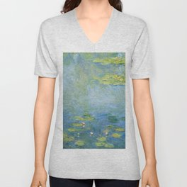 Water Lilies 1906 by Claude Monet Unisex V-Neck
