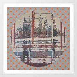 Waterlogged - orange triangle Art Print