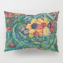 Still life with fruits, jug and small sculpture by Helene Funke Pillow Sham