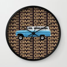 GMC trucks - Chev Suburban tribute to one of the first truck based SUV's Wall Clock