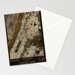 Central Park 1947, old vintage map, map poster new york Stationery Cards
