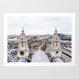 City View over London from St. Paul's Cathedral Art Print