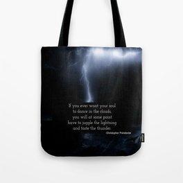 Juggle Lightning Tote Bag