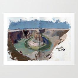 Horse shoe Bend National Park  Art Print