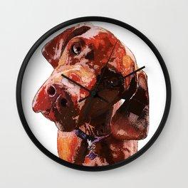 """Olive"" | The Hungarian Viszla Wall Clock"