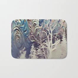 snowy mountain night Bath Mat