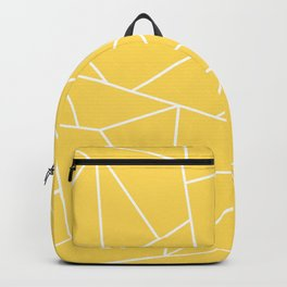 White Mosaic Lines On Mustard Yellow Backpack