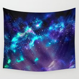 Abstract Nebula #2: Blue Wall Tapestry