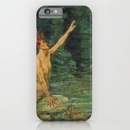 Merman Reaching Up By Myrtle Florence Broome iPhone Case