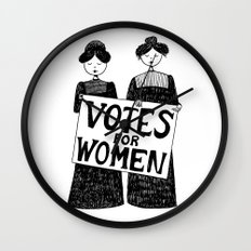 votes for women Wall Clock