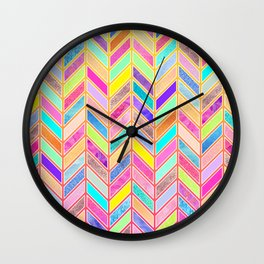 Colors Everywhere Wall Clock