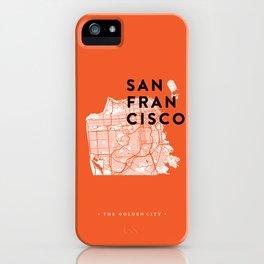 San Francisco Map 04 iPhone Case