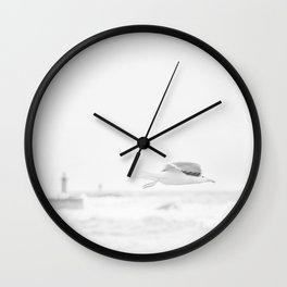 sea - flight Wall Clock