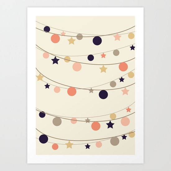 Christmas Garlands Art Print