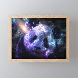 Galaxy Panda Planet Colorful Framed Mini Art Print