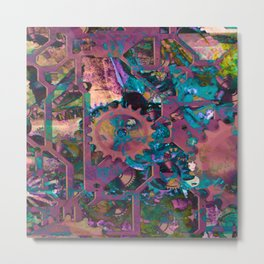 Steampunk,abstract Metal Print