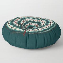 Snake - Green Serpent Floor Pillow