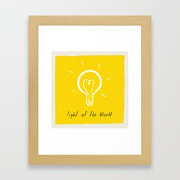 Light of the World - yellow Framed Art Print