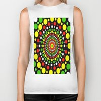 rasta Biker Tanks featuring Rasta by Liqrush