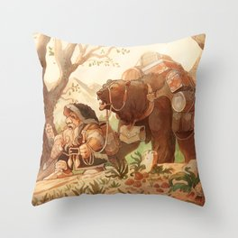 Dwarfen merchant Throw Pillow