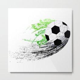 Football soccer sports graphic design Metal Print