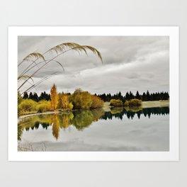 Lake Ohau Art Print