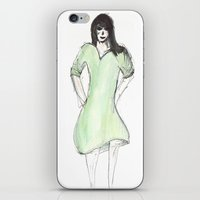 dress iPhone & iPod Skins featuring dress by Aude Borromee
