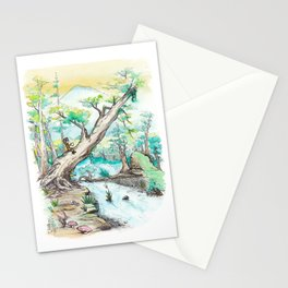 A Woman and Her Coffee Stationery Cards
