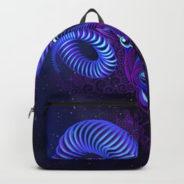 Zodiac neon signs — Aries Backpack