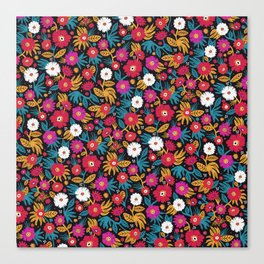 Flower pattern by Veronique de Jong Canvas Print