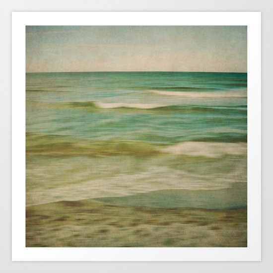 sea square X Art Print