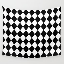 HARLEQUIN BLACK AND WHITE PATTERN #2 Wall Tapestry